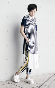 時尚穿搭:Stripe on Stripe