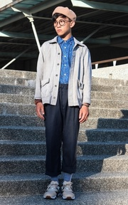 APM 深藍色寬褲的時尚穿搭