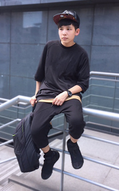 時尚穿搭:▲ #green #all #black #look #y3 #qasa #high #mbmj。▲