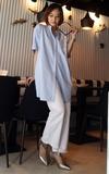 時尚穿搭:藍白襯衫洋裝的另一種搭法