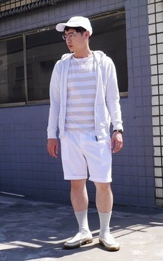 時尚穿搭:White casual~
