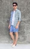 無品牌 牛仔短褲的時尚穿搭