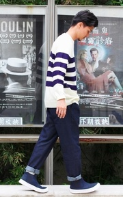 GU 高筒休閒鞋的時尚穿搭
