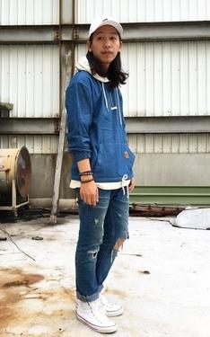 時尚穿搭:感覺褲子可以在剪短一點