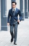 訂製 灰藍搭配的時尚穿搭