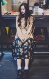 GU 麻花針織衫的時尚穿搭