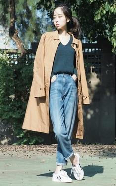 時尚穿搭:#媜 X UNIQLO Slim BoyfriendFit 九分牛仔褲