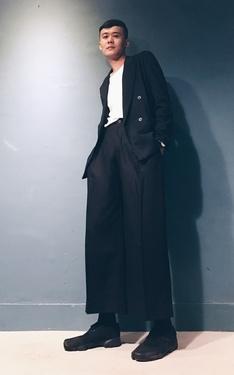 時尚穿搭:難得穿寬褲