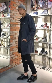 RAINS LONG JACKET的時尚穿搭