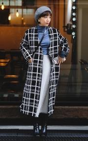 無品牌 歐美格紋外套的穿搭
