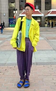 時尚穿搭:鮮豔星期二