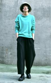 網路購入 寬褲的時尚穿搭