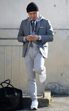 時尚穿搭:西裝X連帽外套
