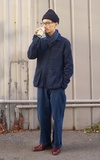 POLO RALPH LAUREN 藍染絲巾的時尚穿搭