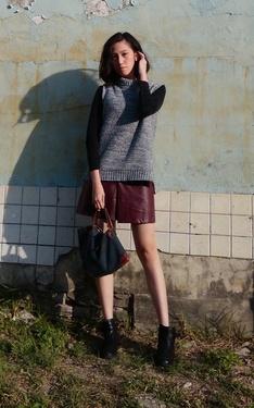 時尚穿搭:皮裙● 俐落女人感