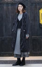 STYLENANDA 韓系風格開衩細節裙擺長袍的時尚穿搭