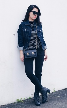 時尚穿搭:Grab a denim jacket