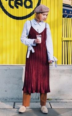 時尚穿搭:Burgundy Velvet