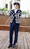 時尚穿搭:秋冬紳士.波卡點點X條紋X高腰打褶褲