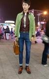 SAMPLE MENS FASHION 軍綠風衣的時尚穿搭