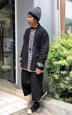時尚穿搭:黑 X 條紋