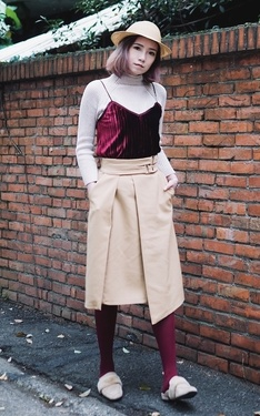 時尚穿搭:Burgundy on Khaki