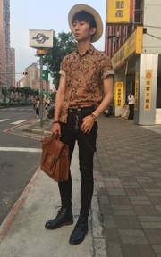 SAMPLE MENS FASHION 編織草帽的時尚穿搭