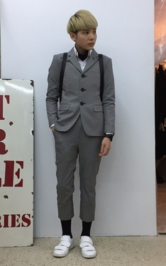 時尚穿搭:#green #acnestudios #acne #suit #and #tie #gentle。