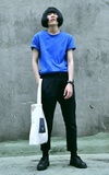 時尚穿搭:藍黑配