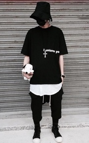 FAITH_HLC OVERSIZED TEE的時尚穿搭