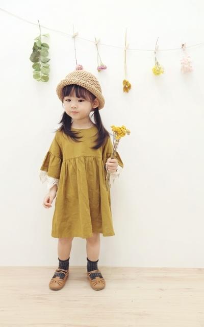 適合日系甜美、日系森林、日系鄉村風、蕾絲洋裝、法式甜美、編織草帽、蕾絲袖批接洋裝、蕾絲袖拼接洋裝的穿搭
