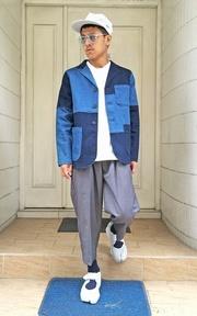 PLAIN-ME 棒球領前短後長上衣的時尚穿搭