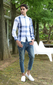 TM時間男人 彈力塑形牛仔褲的穿搭