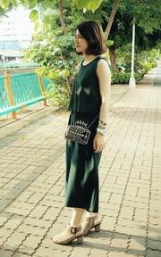 韓貨 麂皮高跟踝靴的時尚穿搭