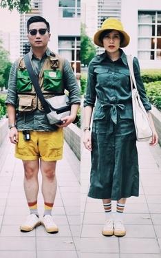 時尚穿搭:情侶搭配-黃綠色系的主題搭配