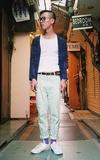 ONITSUKA TIGER 白色休閒鞋的時尚穿搭
