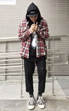 51PERCENT 51PERCENT EARTH WOOL PLAID CHECK SHIRT的時尚穿搭