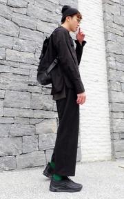 GASTON LUGA 皮面後背包的時尚穿搭