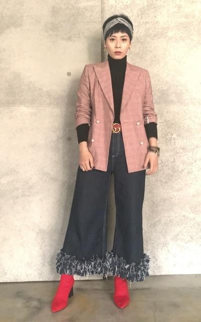 適合FASHION STYLE、牛仔寬褲、時髦優雅、帥氣個性的穿搭