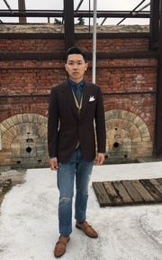 千代洋服 格紋三件式成套西裝的時尚穿搭
