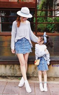 時尚穿搭:母女裝 - 早春穿搭