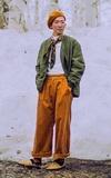 JOURNAL STANDARD ワイドコール タックワイドパンツ的時尚穿搭