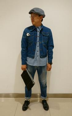 時尚穿搭:藍藍的