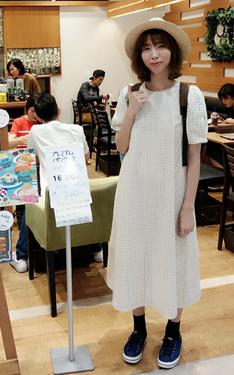 時尚穿搭:草編紳士帽 x 布蕾絲長版白洋裝
