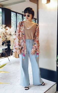 時尚穿搭:印花boho