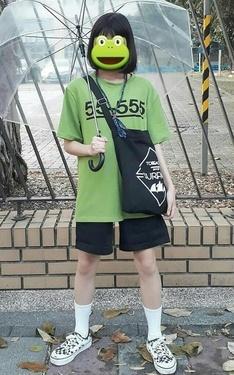 時尚穿搭:螢光綠拉拉拉