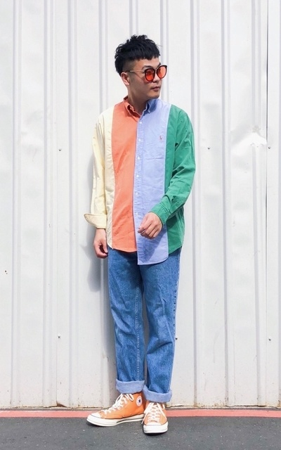 適合STREET、COLORFUL、秋、襯衫、POLO RALPH LAUREN的穿搭
