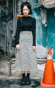 WUZO 豹紋裙 的時尚穿搭