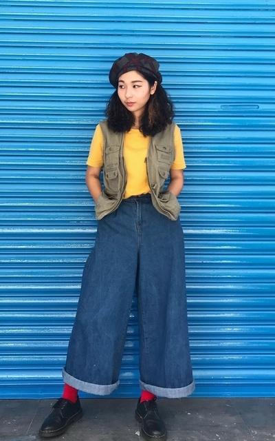 適合日系復古、日本街頭、日系原宿風、軍裝混搭、古著的穿搭