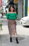 時尚穿搭:荷邊豹紋裙